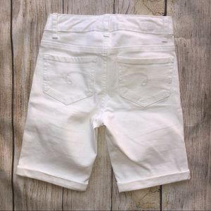 Justice Bottoms - Justice Girls White Denim Bermuda Shorts